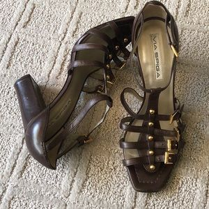 VIA SPIGA STRAPPY HEELS